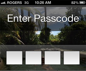 Password protect your mobile device